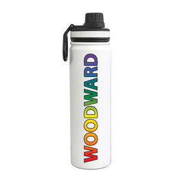 Fanatic Group Stainless 24oz Sport Water Bottle in White/Multi