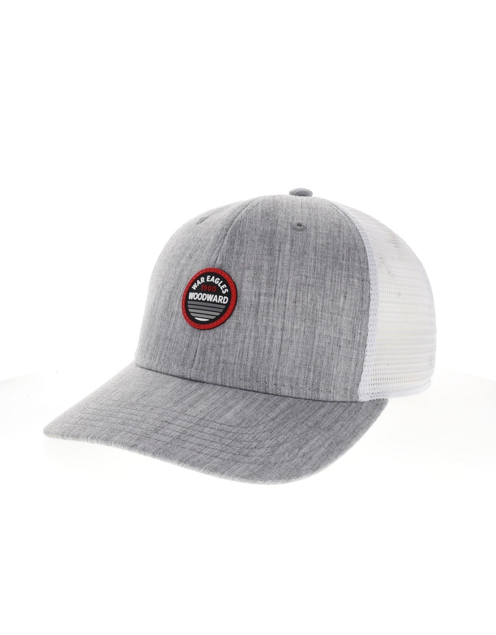 Legacy  Mid-Pro Snapback Trucker Cap in Malange Grey & White