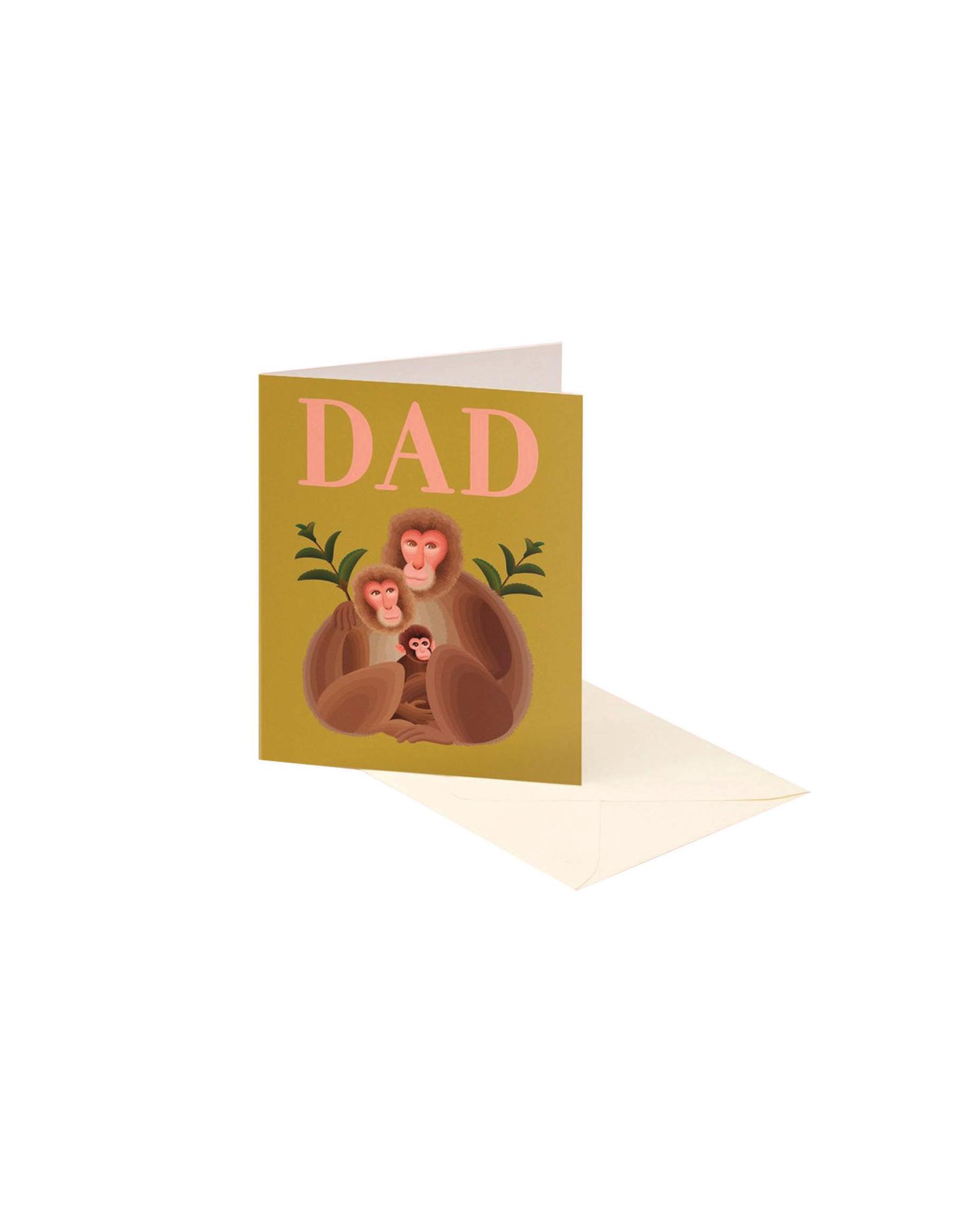 Clap Clap Dad Monkey Card