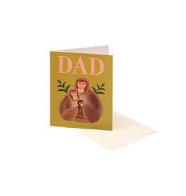 Clap Clap Dad Monkey Card