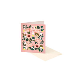 Clap Clap Dusty Pink Floral Congratulations Card