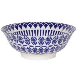 Danica Stamped Bowl, Blue Geo