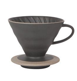 Danica Contour Stoneware Pour Over, Matte Black