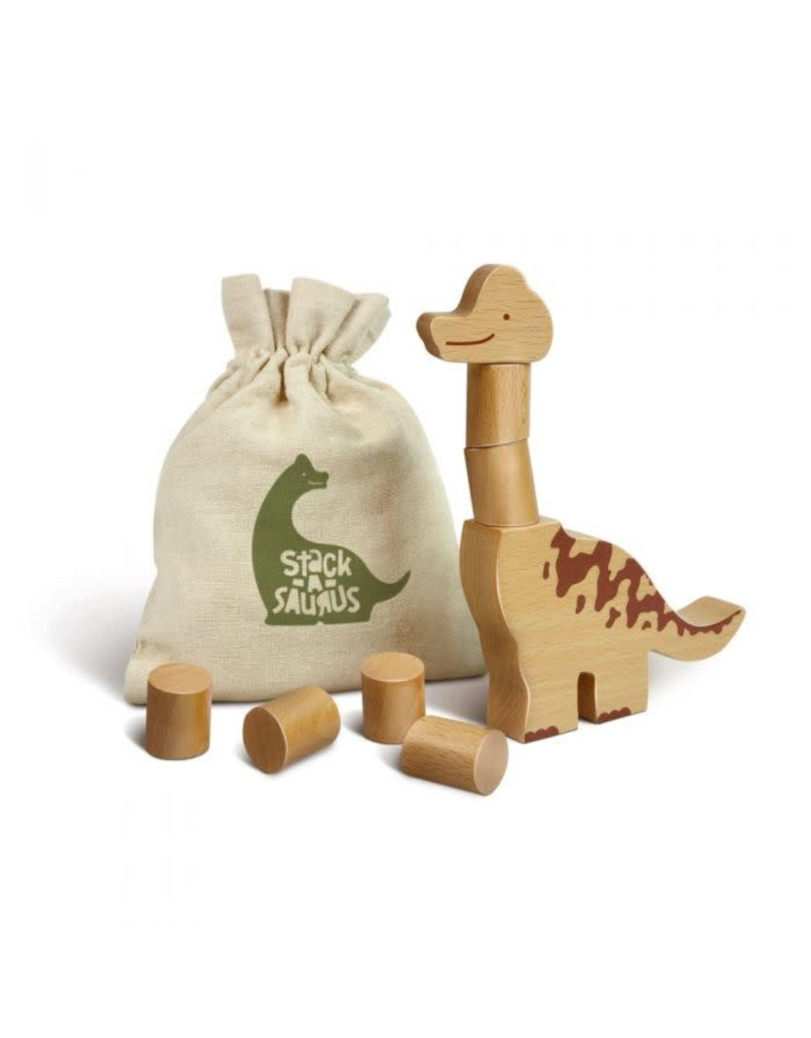 Fred & Friends Stack-A-Saurus, Wooden Stacking Game