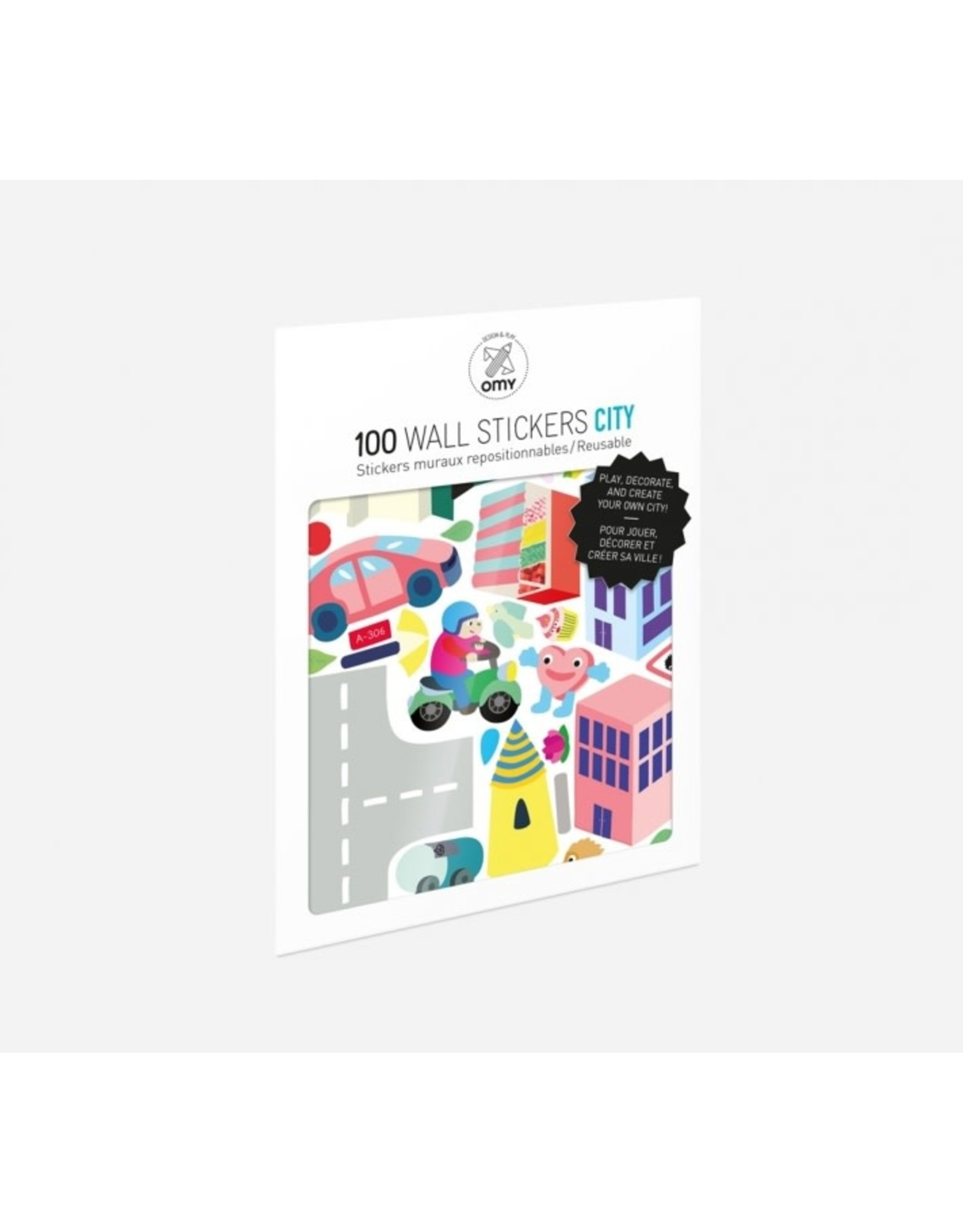 OMY Set of Stickers - City