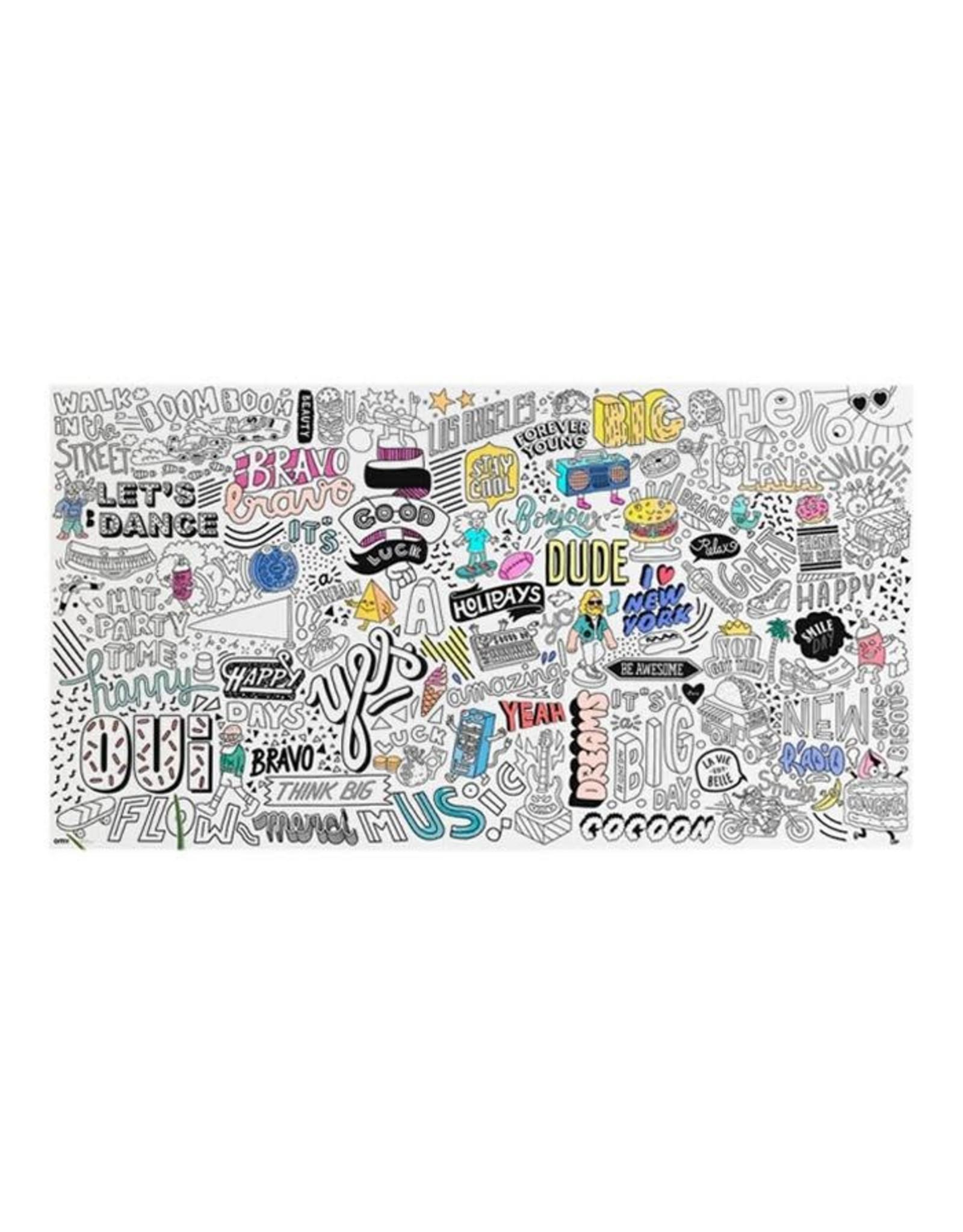 OMY Giant Colouring Poster XXL, Street Art