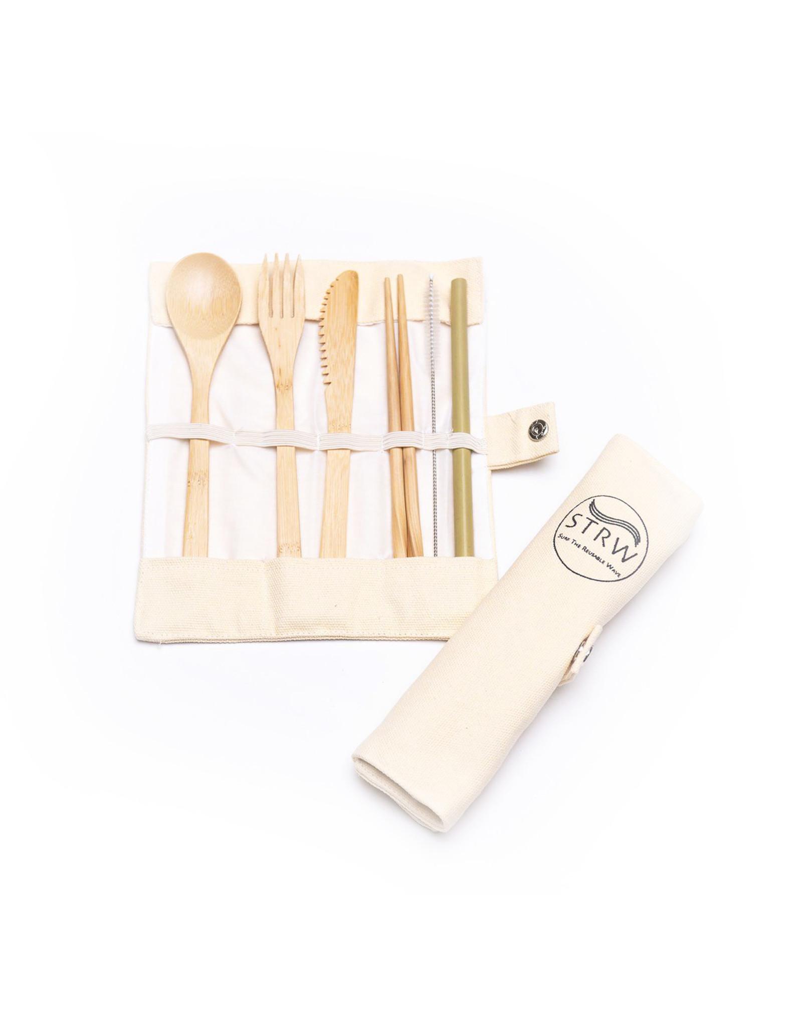 STRW Bamboo To-Go Cutlery Set