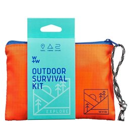 Wild + Wolf Outdoor Survival Kit Pouch