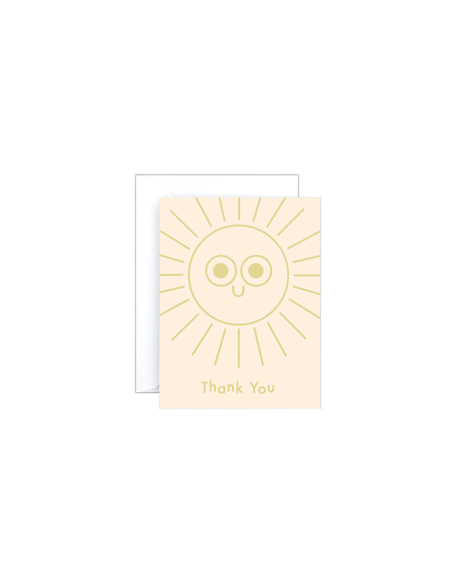 Wrap Thank You Sun Mini Card