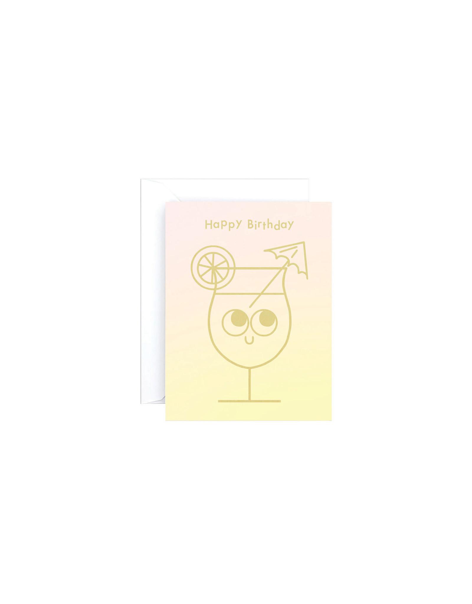 Wrap Cocktail Birthday Mini Card