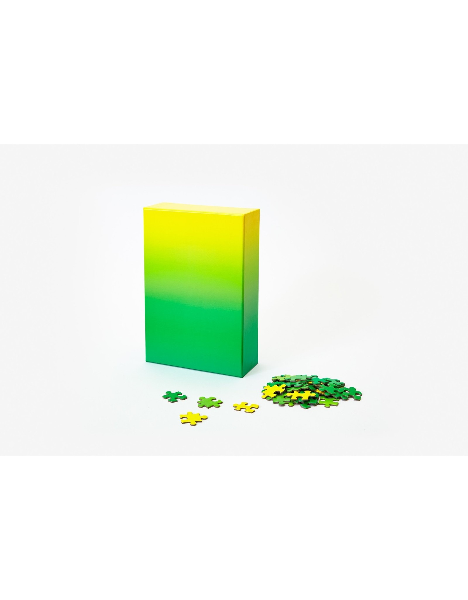 Areaware Medium Gradient Puzzle, Green/Yellow