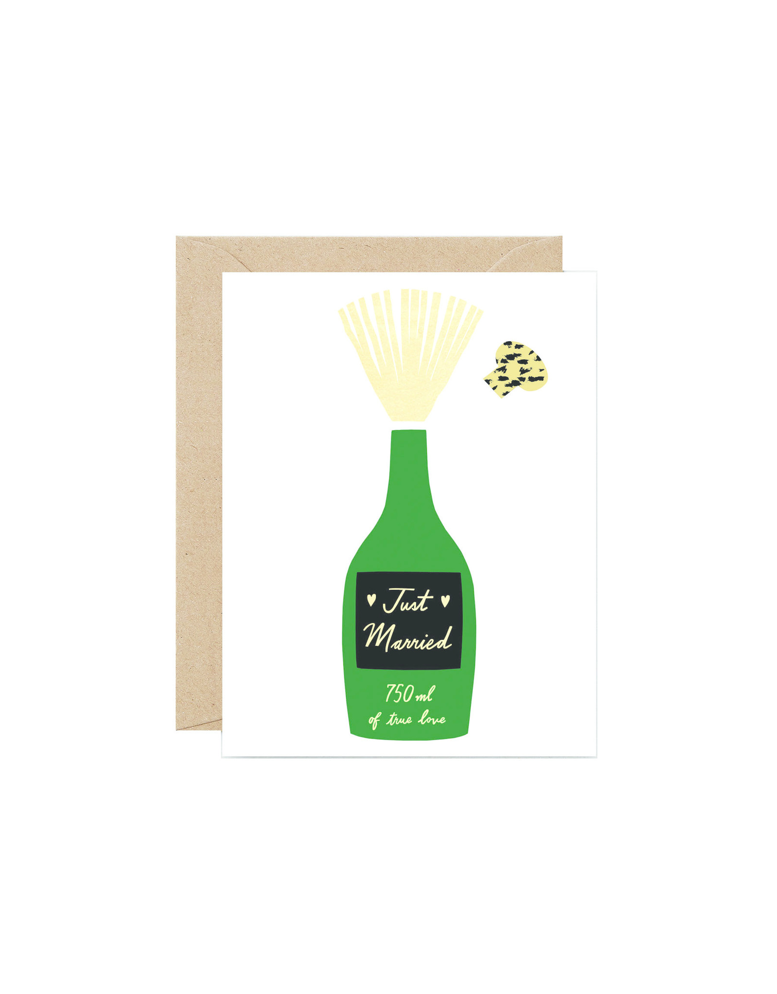 Wrap Just Married Bottle Pop Card