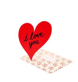 Clap Clap I Love You Die-cut Heart Card