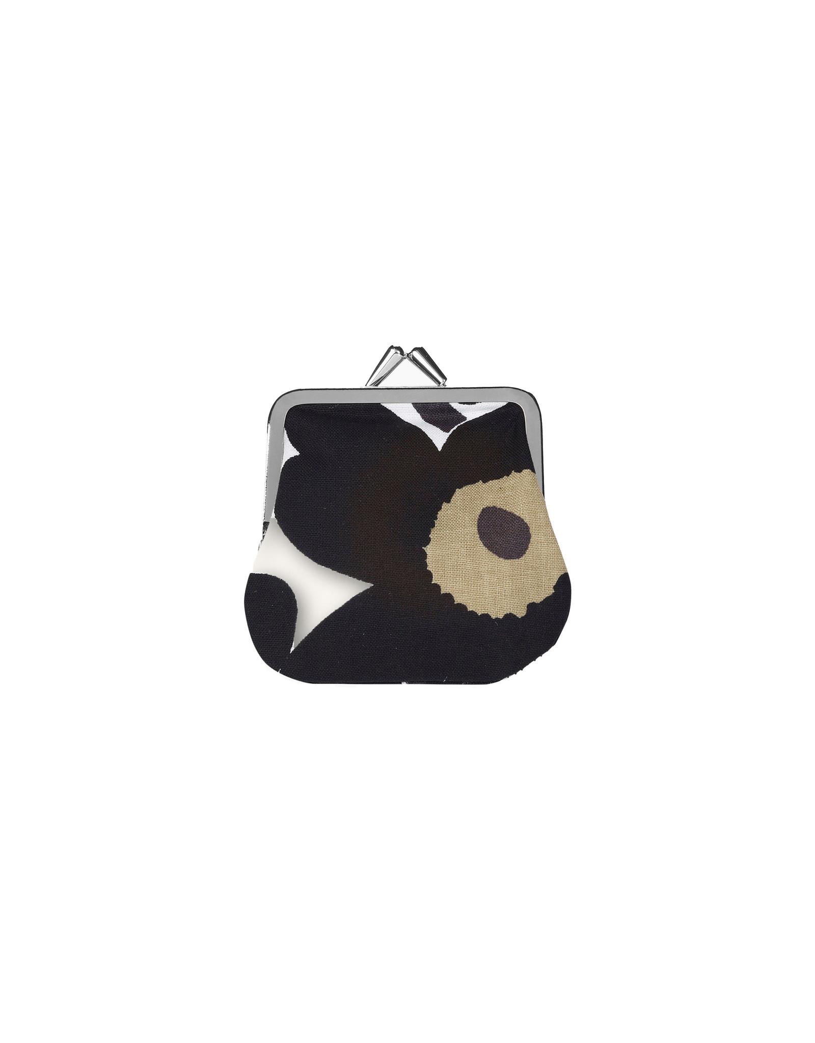 Marimekko Purse, Mini Unikko Kukkaro, Black Olive