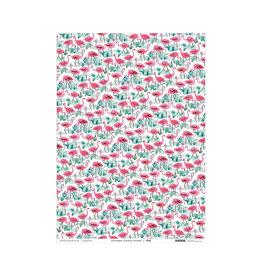 Wrap Flamingos Gift Wrap