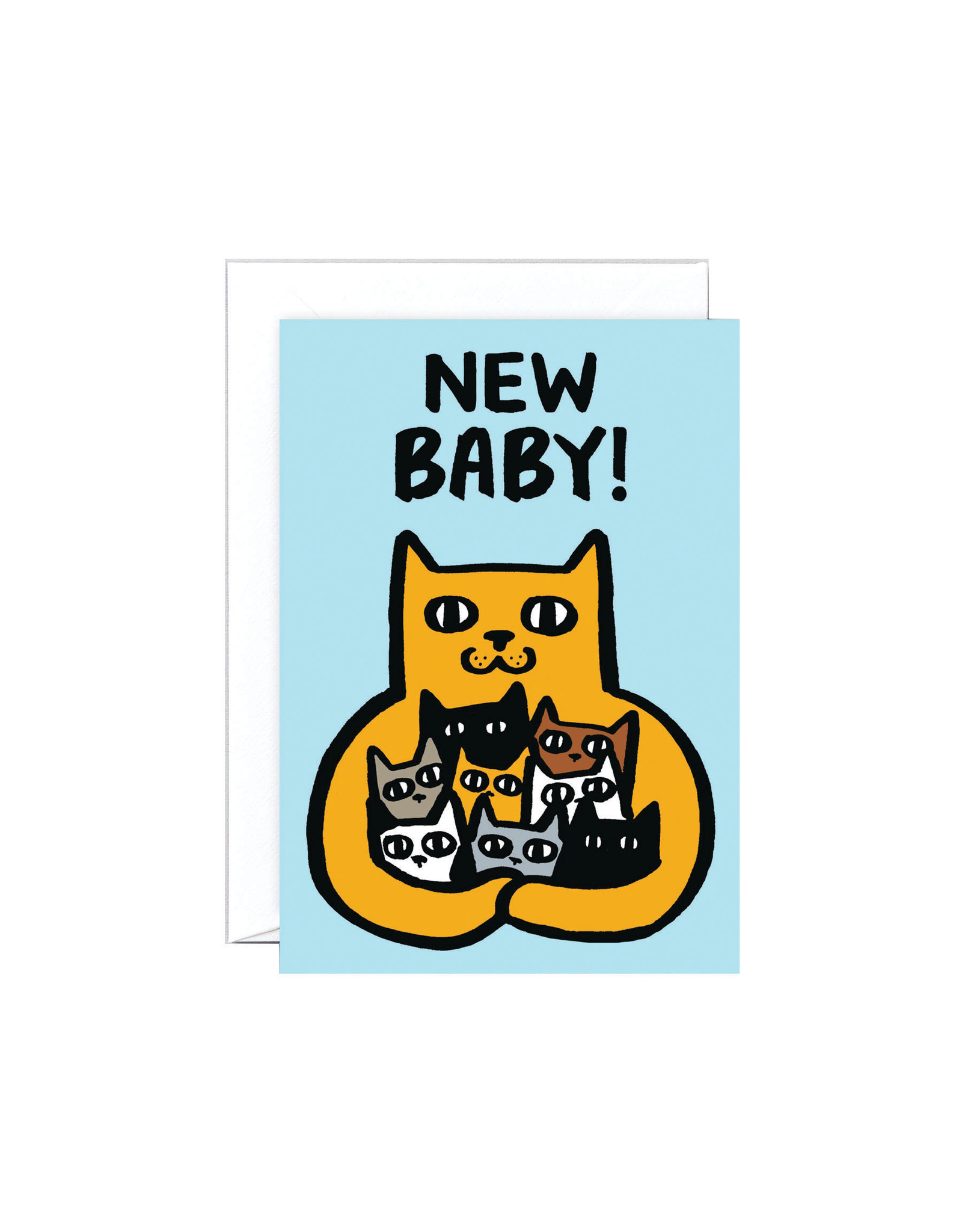 Wrap Cat New Baby Card