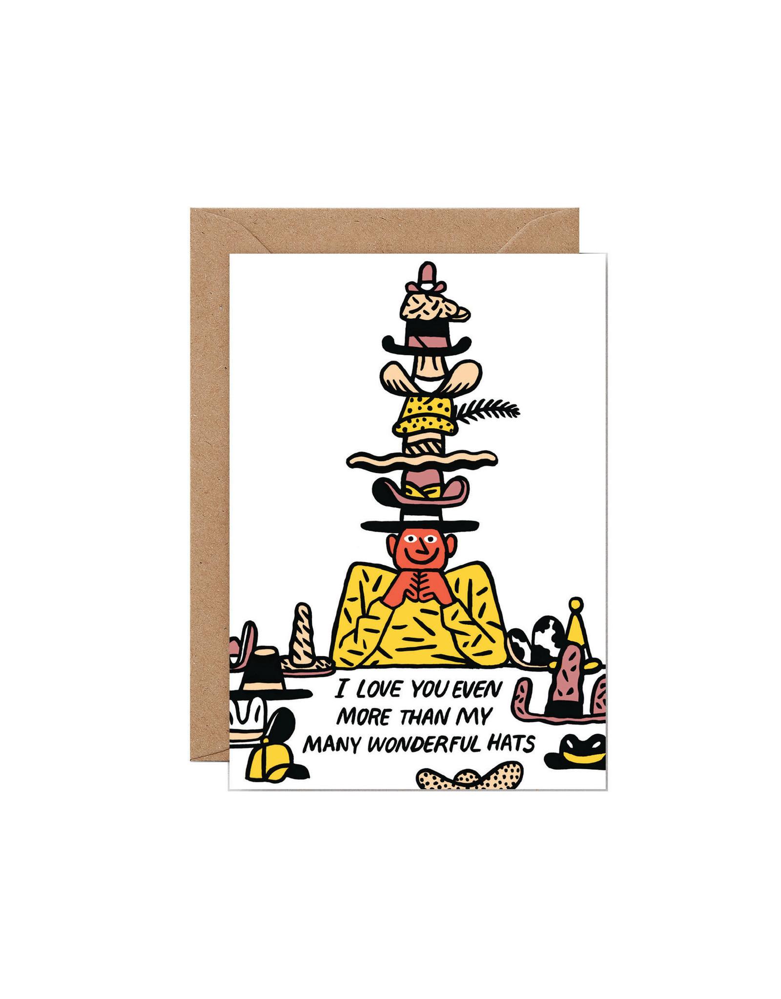 Wrap Many Wonderful Hats Card