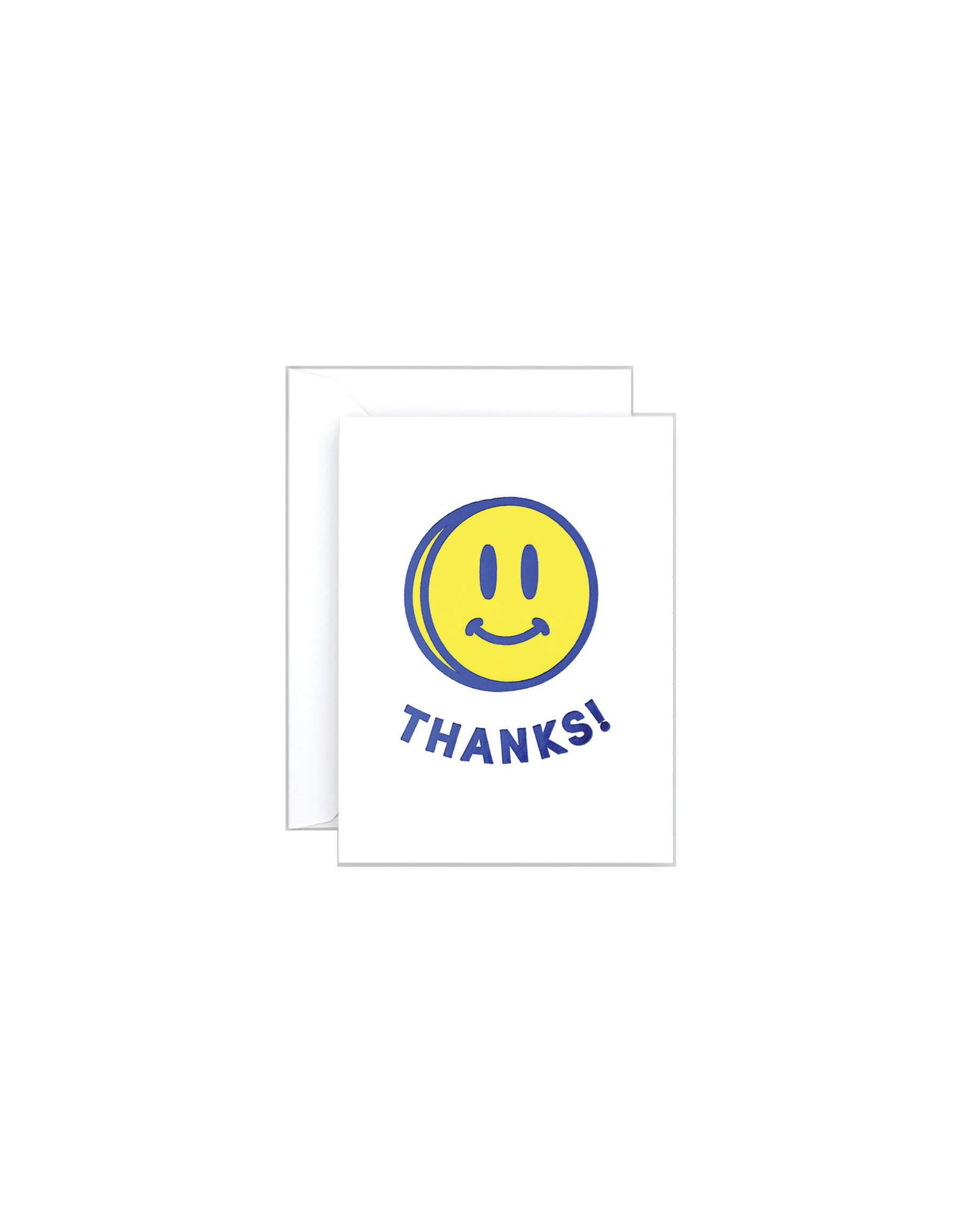Wrap Thanks Smily Face Mini Card