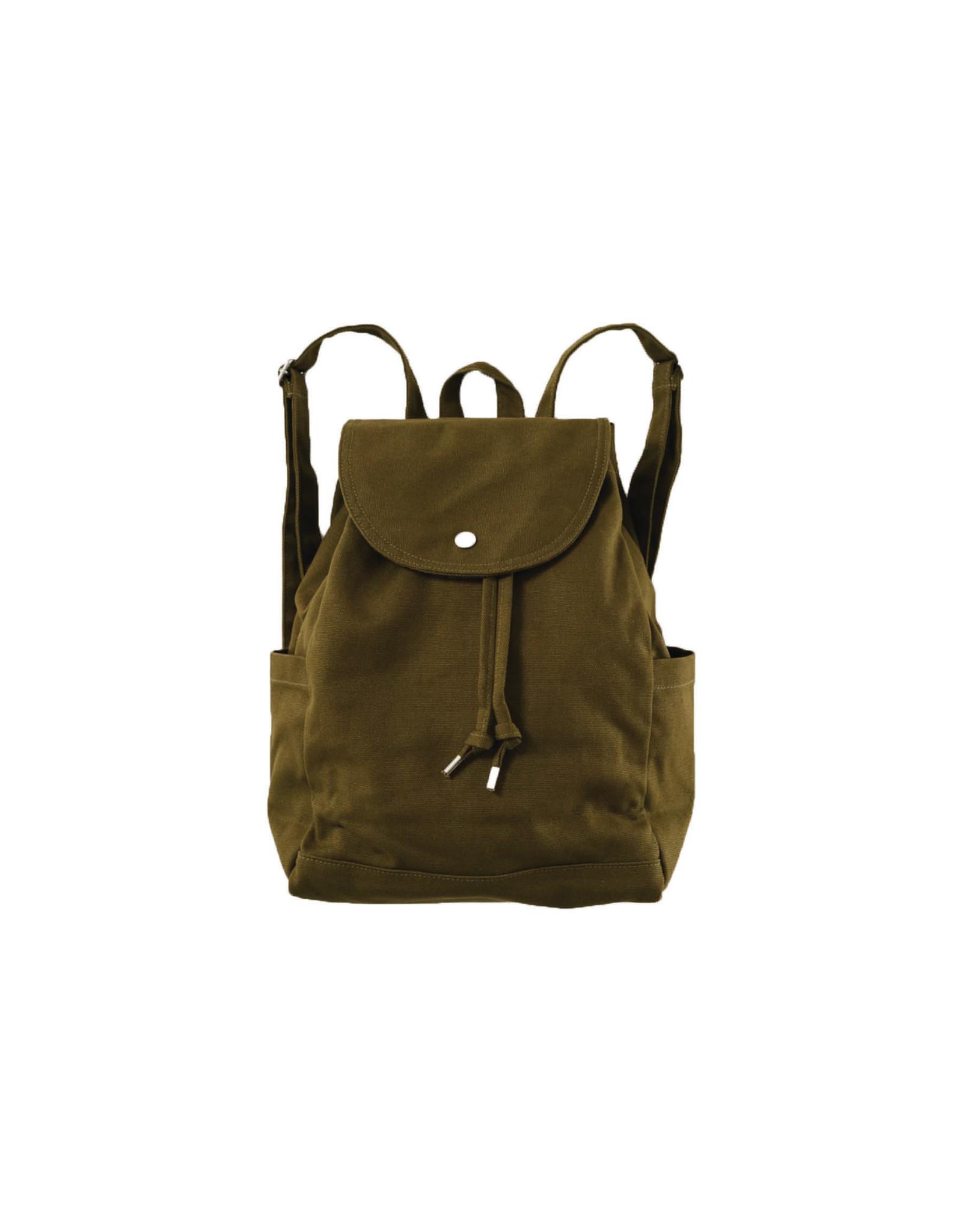 Baggu Drawstring Backpack, Kelp