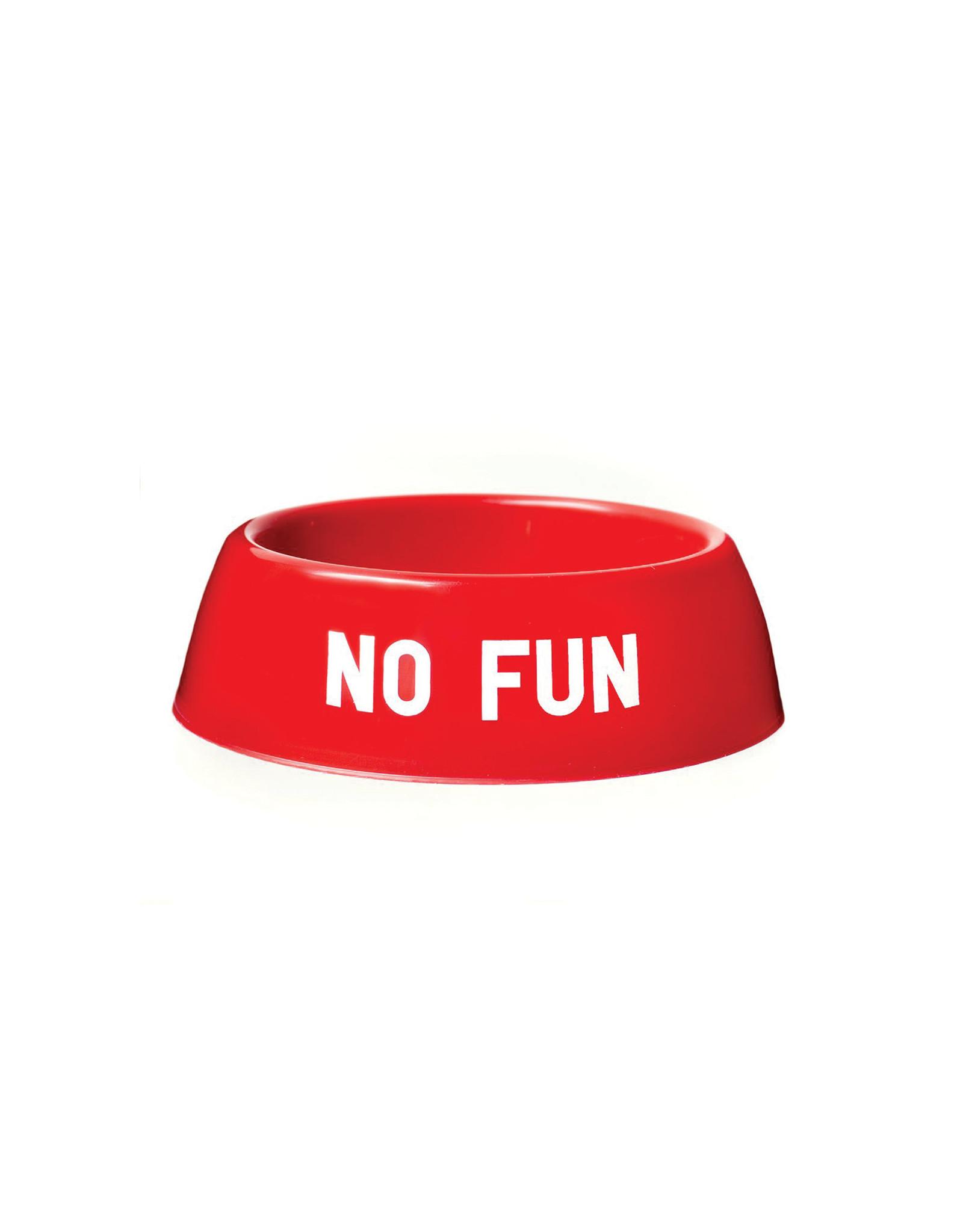 No Fun Classic Dog Bowl