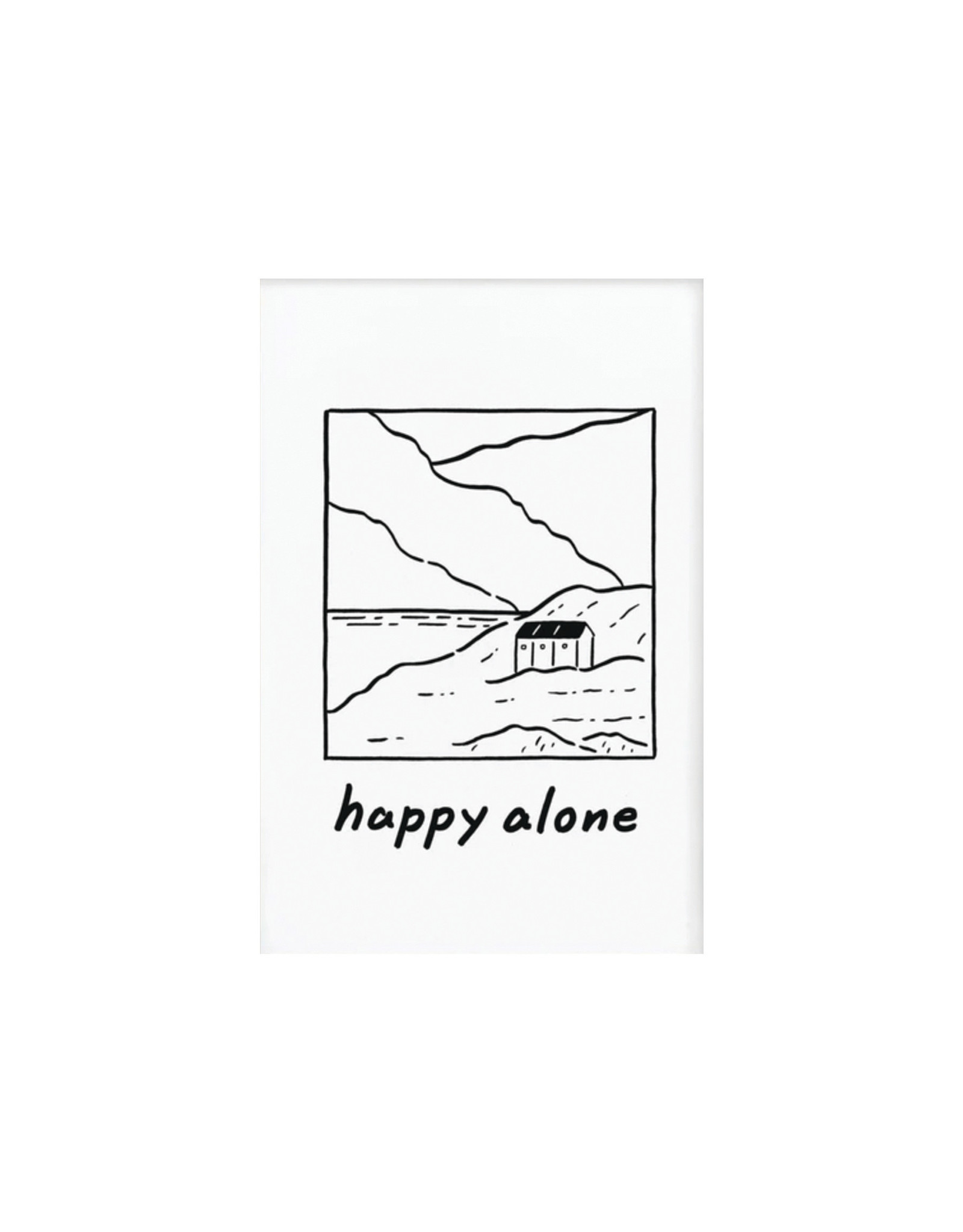 Stay Home Club, Happy Alone Print