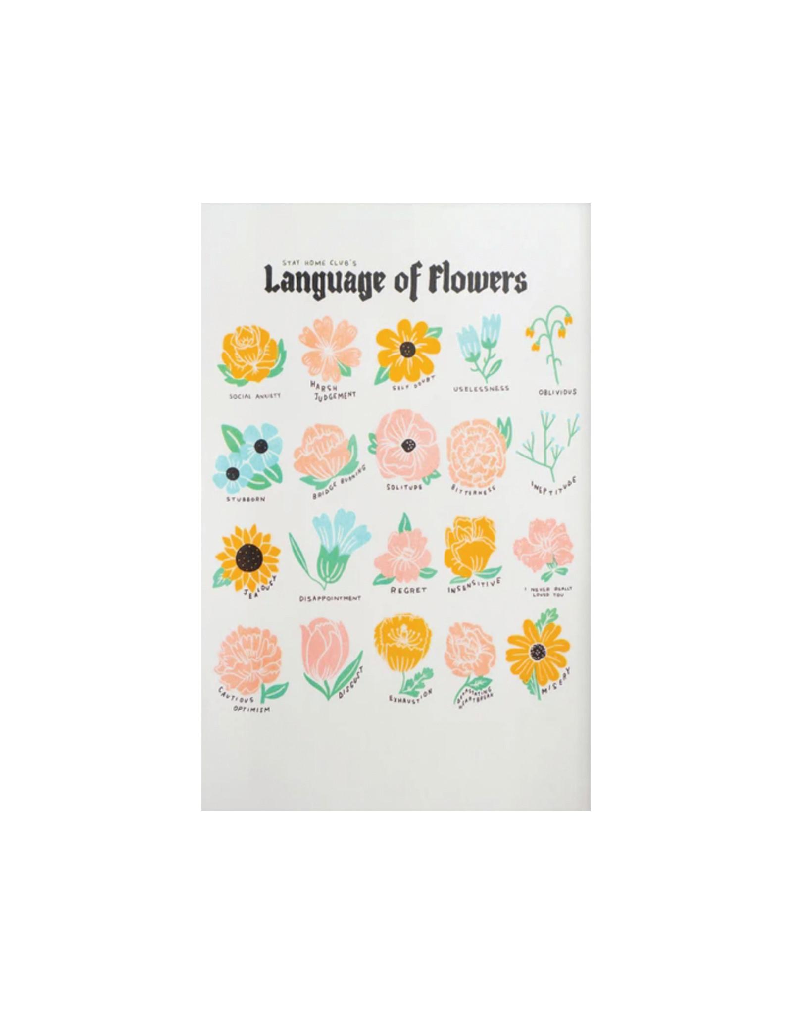 Stay Home Club Language of Flowers Riso Print 11 x 17