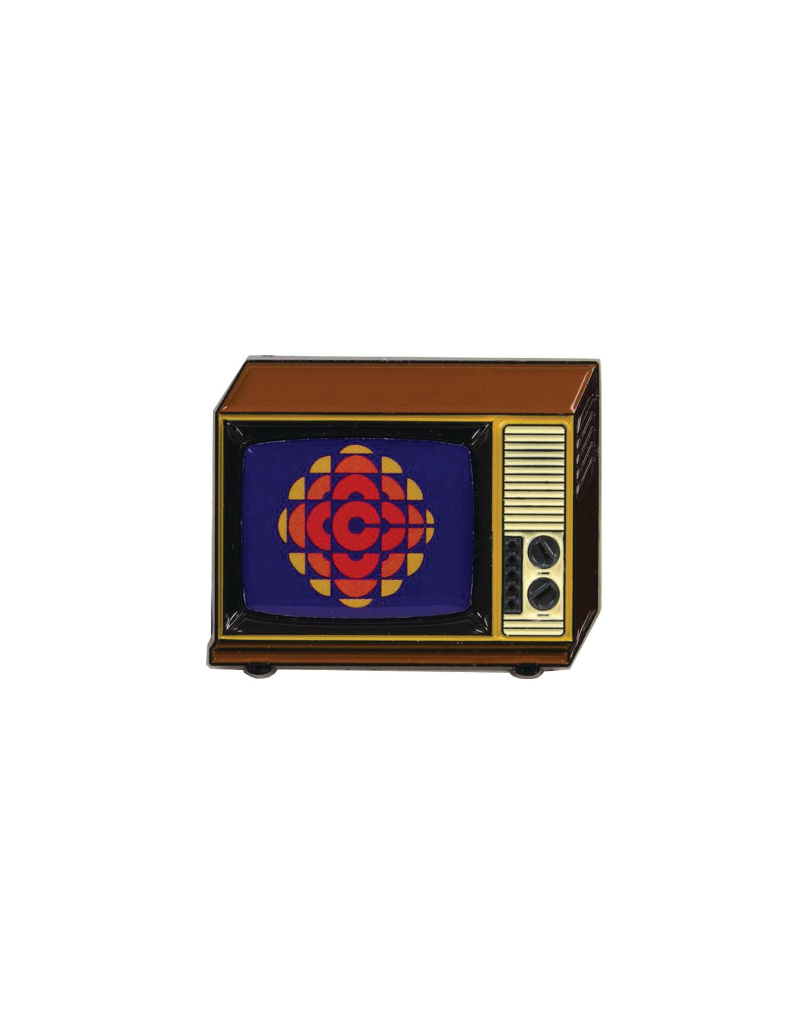 Happy Worker CBC Retro TV 1974 Pin