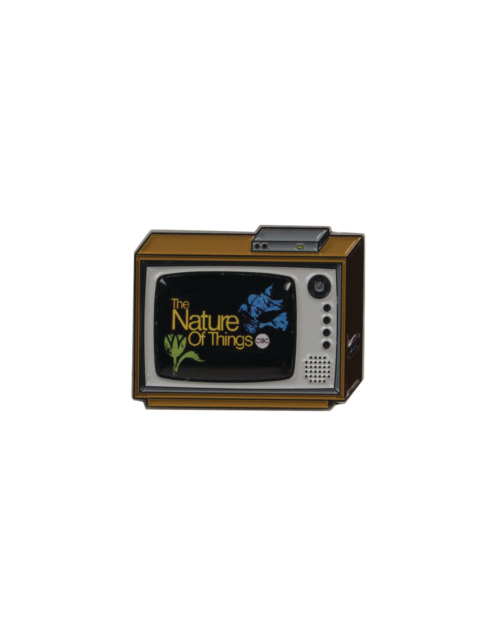 Happy Worker CBC Retro Nature of Things Pin