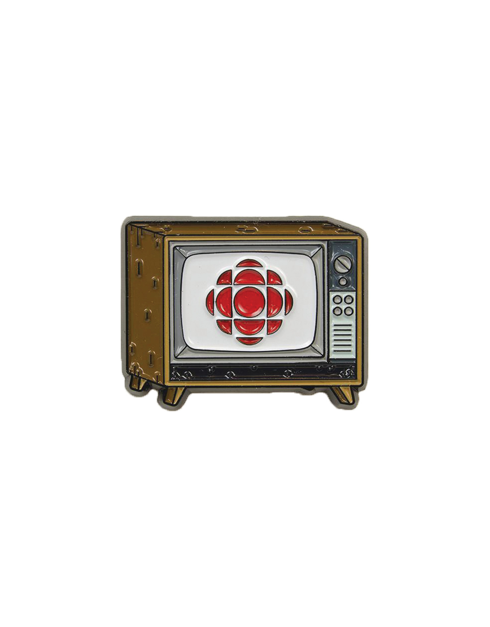 Happy Worker For the Love of Canada Pin, CBC Television