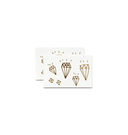 Tattly Diamonds Gold Set of 2