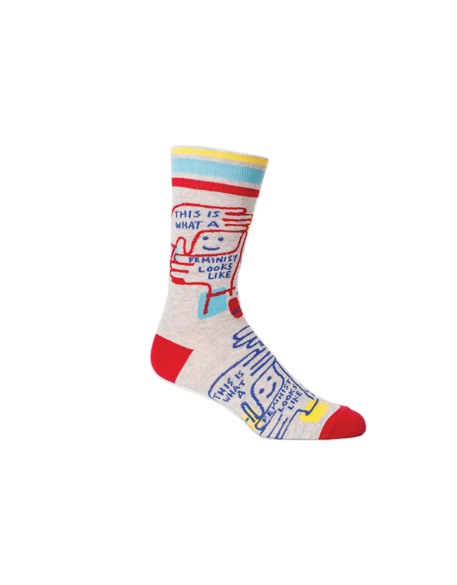Blue Q Feminist Looks Like S-M Crew Socks