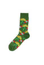 Yellow Owl Green Taco Socks, M-L