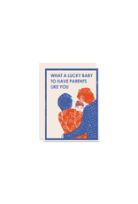 Heartell Press Lucky New Baby Card