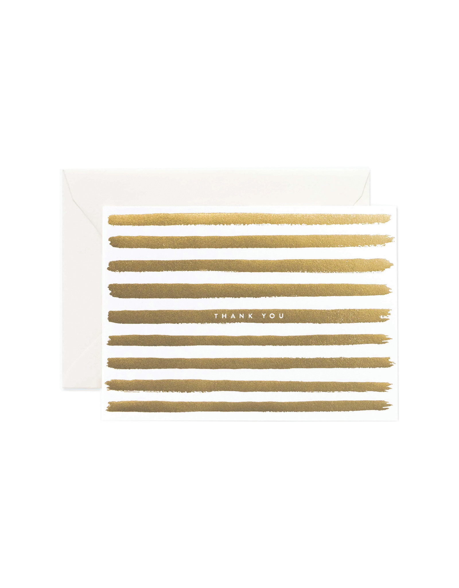 Rifle Paper Co. Gold Stripes Thank You Card
