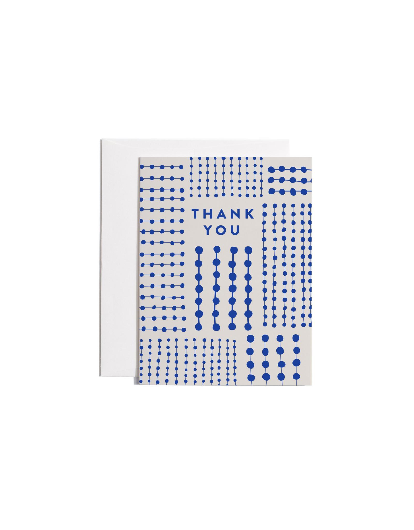 Poketo Blue Pattern Thank You Card