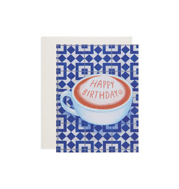 Poketo Happy Birthday Coffee Card