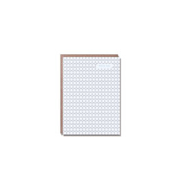 Egg Press Hex Pattern Thank You Card