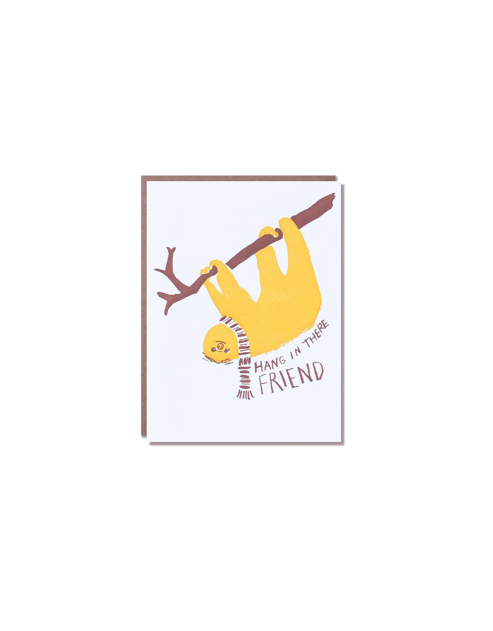Egg Press Sloth Hang In There Card