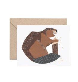 Lisa Vanin Notecard, Beaver