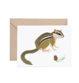 Lisa Vanin Notecard, Chipmunk
