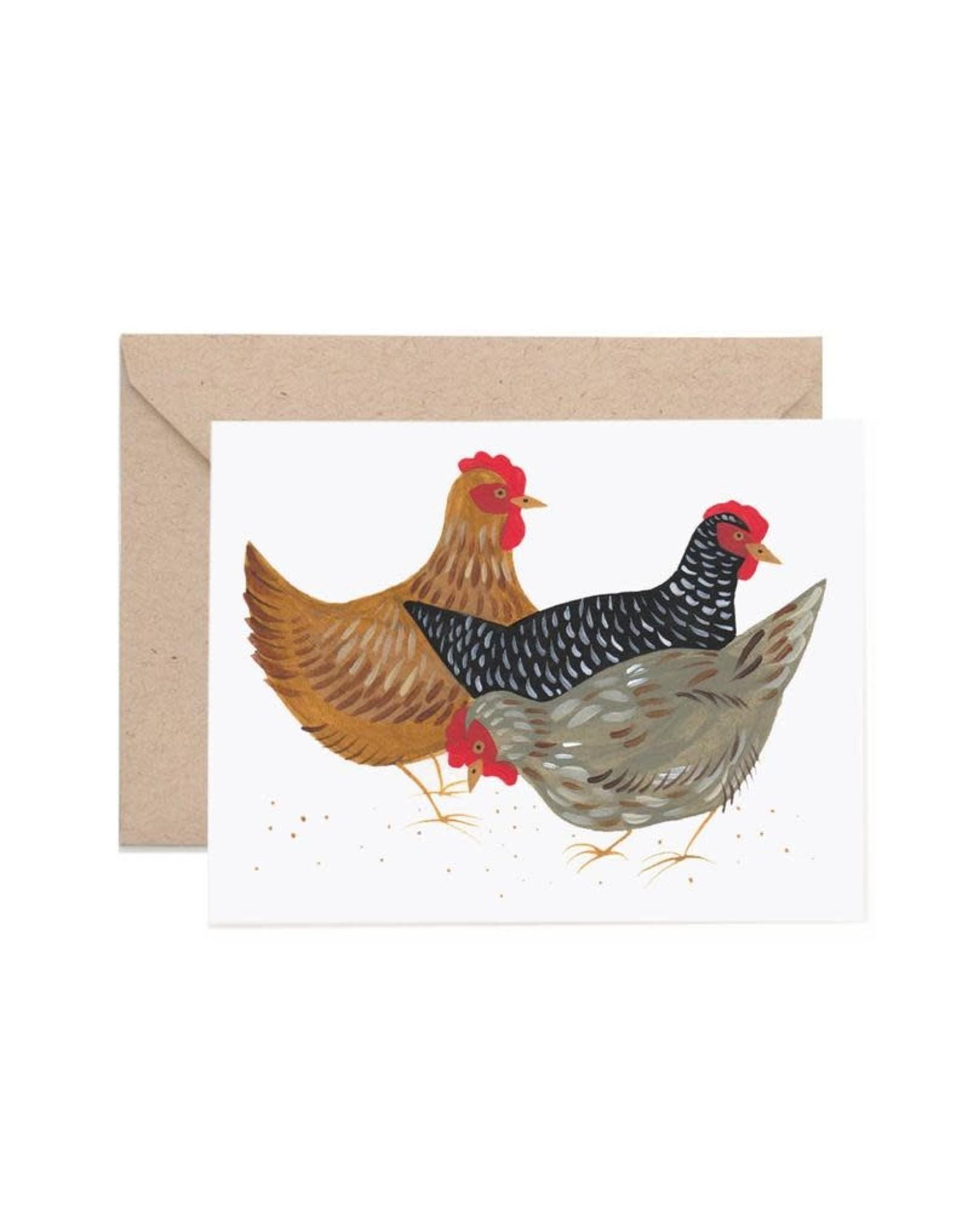 Lisa Vanin Notecard, Hens