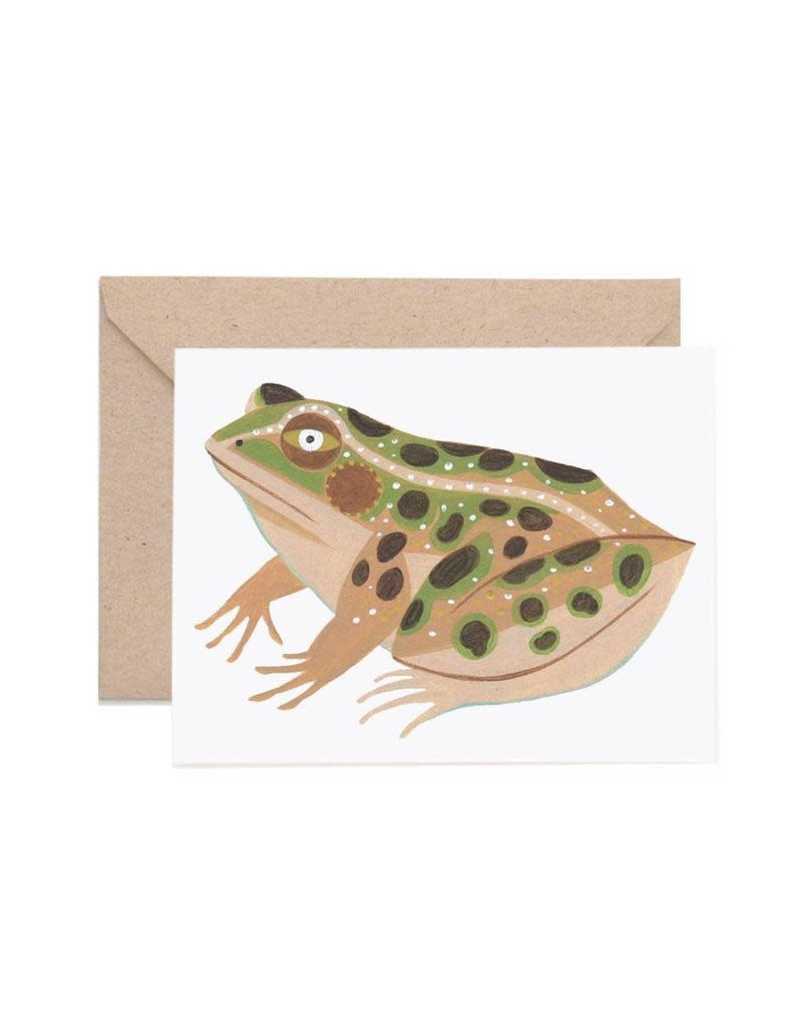 Lisa Vanin Notecard, Leopard Frog
