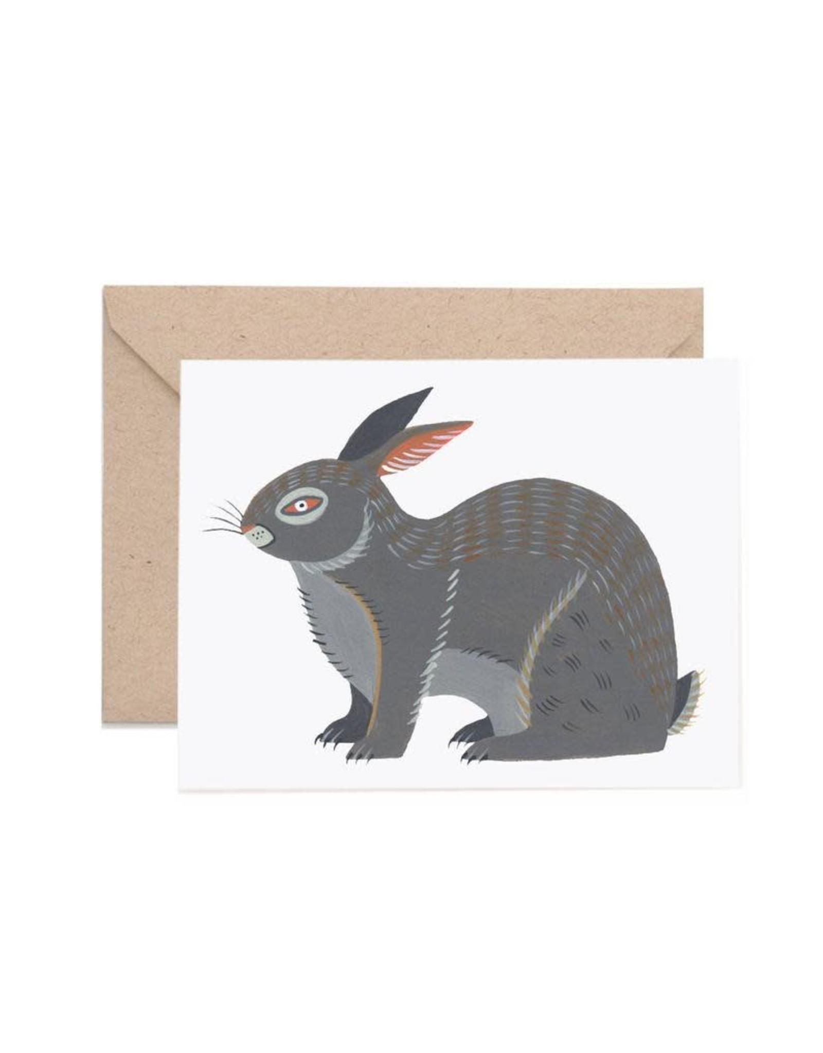 Lisa Vanin Notecard, Rabbit