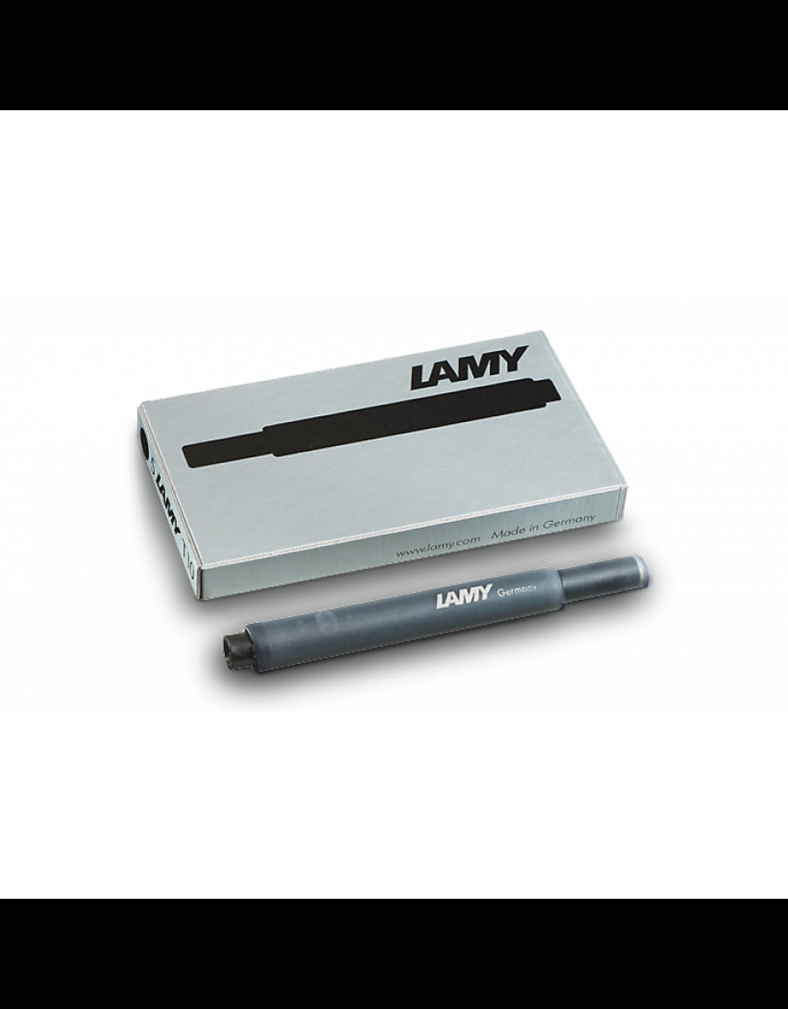 LAMY T10 Refill - Fountain Pen Ink Cartridges, Box of 5 (Black)
