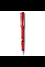 LAMY safari Fountain Pen, Red, Fine Nib