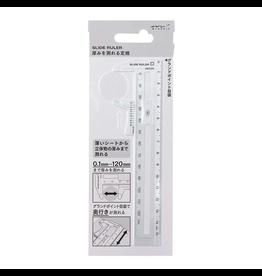 Midori CL Slide Ruler, Clear