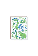 Hello Lucky Dino Party Card