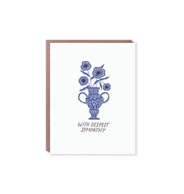 Hello Lucky Floral Urn Sympathy Card