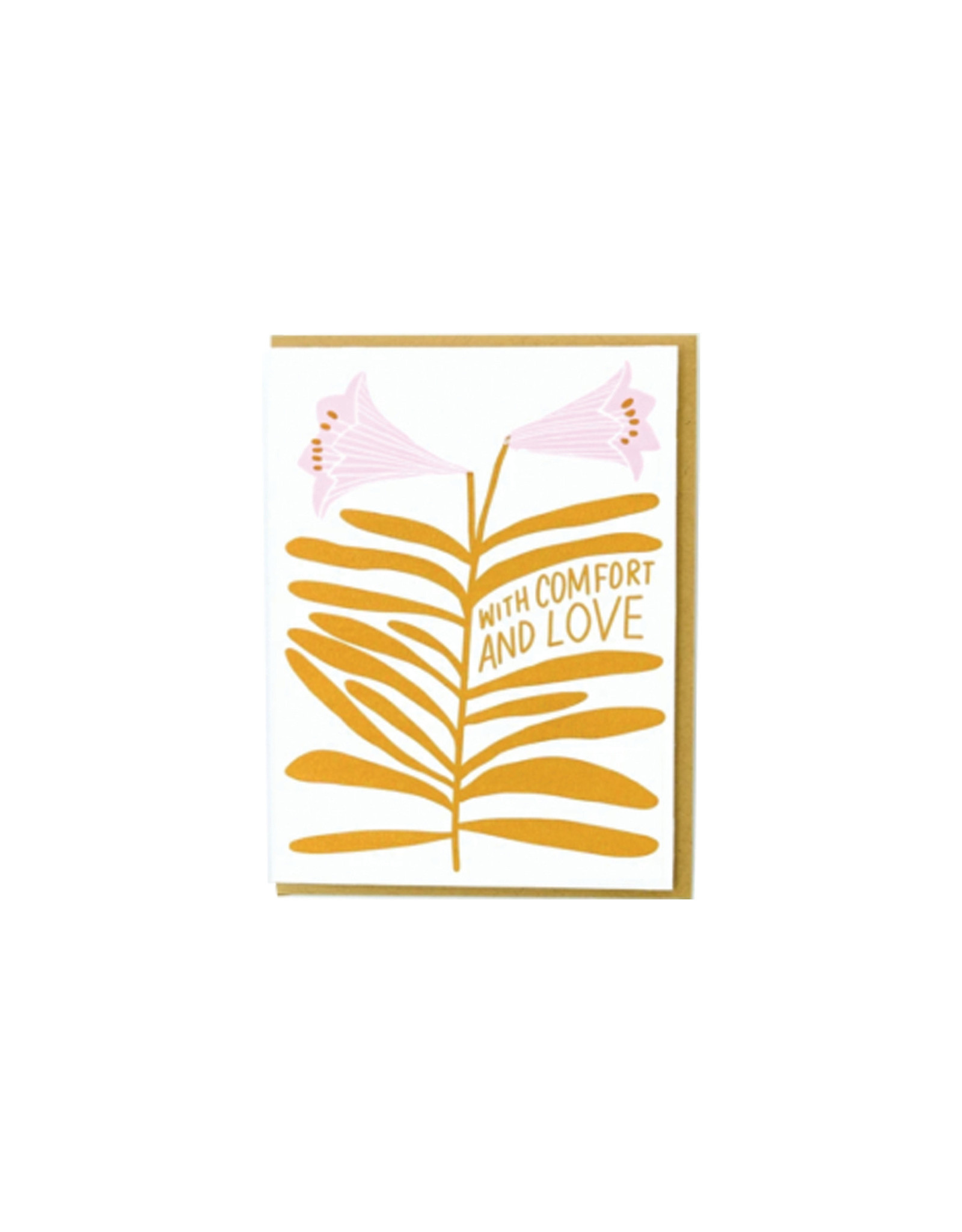 Hello Lucky Lilies Comfort Card