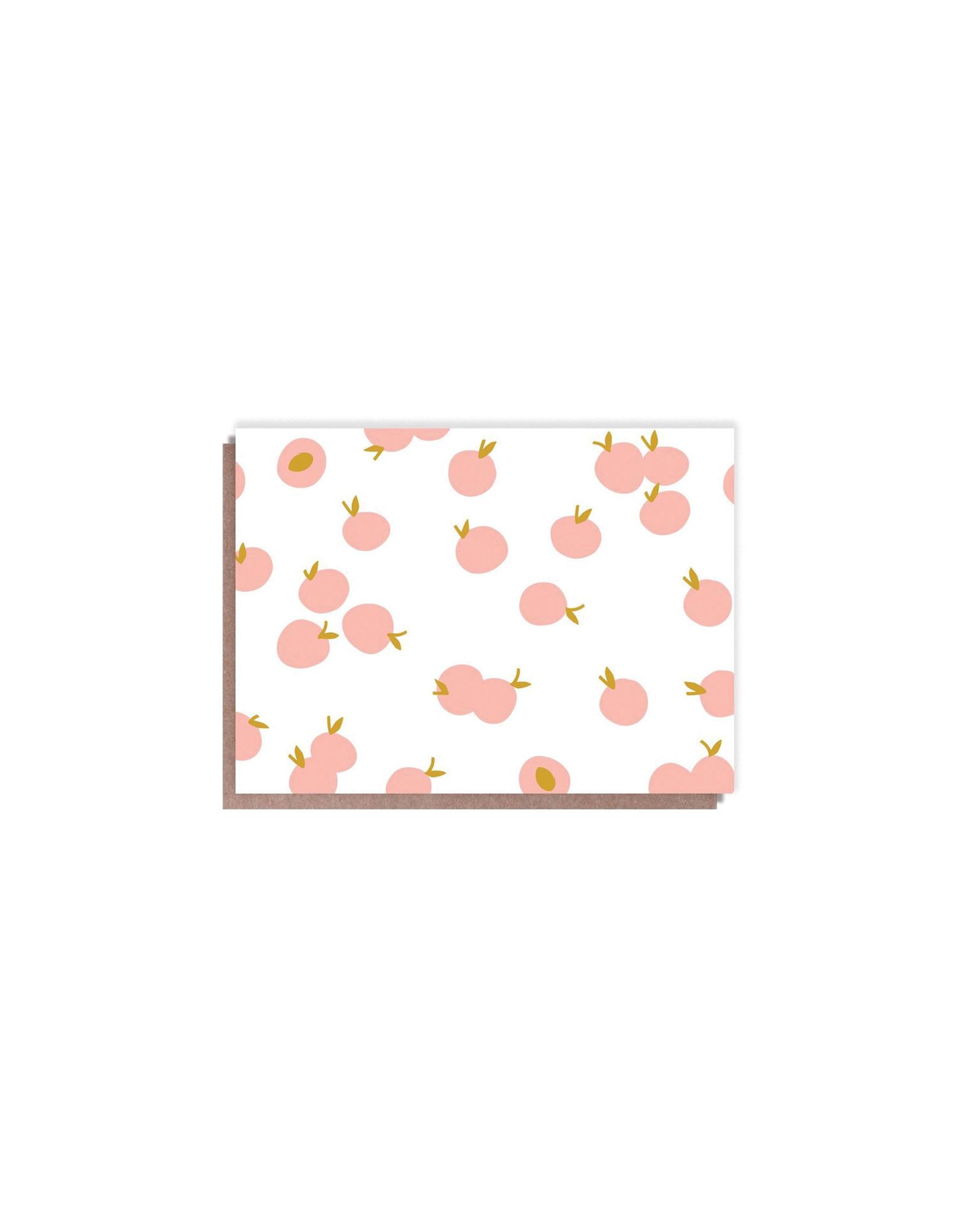 Hello Lucky Peachy Blank Card